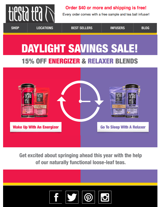 Daylight Savings Email