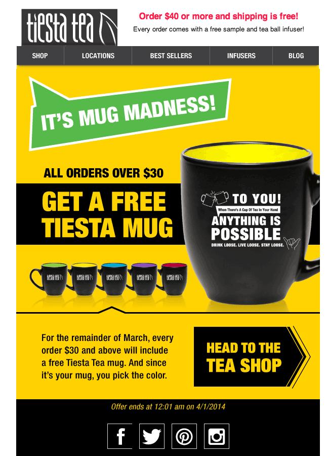 Mug Madness Email