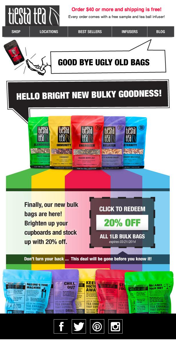 New Bulk Bag Email